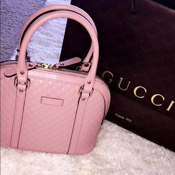 5ade11bd Gucci microguccissima purse in baby pink